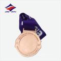 ЭКО-блестящий бронзовый позолоченный металл резвится медаль