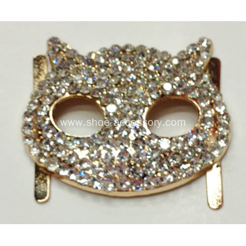 Rhinestone Alloy Buckles with Animal Pattern for Leather Work, Shoe Ornaments, Hats Decor