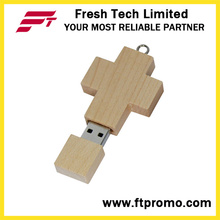 Croix de bambou & bois Style USB Flash Drive (D807)