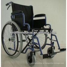 Sobressalente cadeira de rodas de freio manual com pneus PU BME4619B