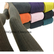 Femmes Casual beau tricot couleur Pure collant chaud