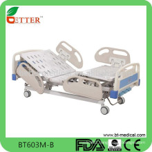 Deluxe three function electric hospital bed with central brake system