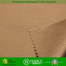 Tecido de poliéster cátion com design de cheques para jaqueta acolchoada masculina