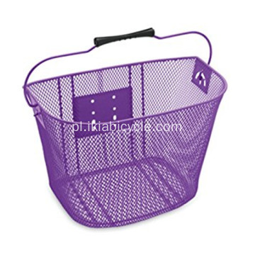 Metal Black Stainless Steel Antirust Bike Basket
