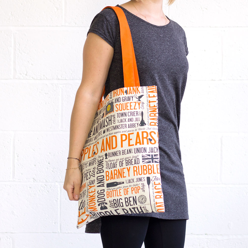 Happy shopping canvas bag
