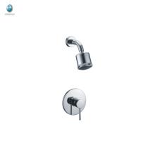 KI-14 Ensemble de robinets de baignoire et de douche en chrome poli contemporain