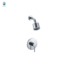 KI-14 Contemporary Polished Chrome Round Tub and Shower Faucet Set
