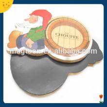 Wooden santa design xmas fridge magnet