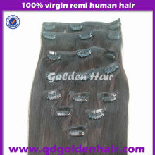Unprocessed Virgin Human Hair Brazilian Straight Hair Clip In Extensionsion