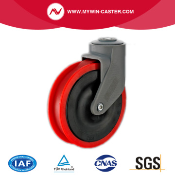 Hollow Swivel Red TPR Supermarket Caster