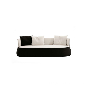 Sofa Recliner Kayu Sofa Three-seater Fabric Upholstered