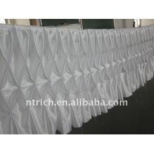 Fascinante!!! 2012 cor branca cetim toalha de mesa / saia de mesa, estilo favo de mel, design de moda
