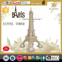 Edifícios mundialmente famosos eiffel tower super inteligência brinquedo 3d puzzle game