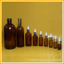 Amber Color Glass Essential Oil Bottles With Screw Cap In 20ml 30ml