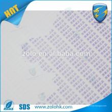 Printible treffen Wasser Farbe ändern Zerbrechliches Papier Material Double Anti fake Material für Handy iphone