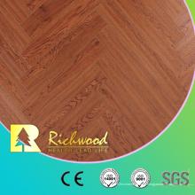 Plancher en bois stratifié de stratifié de V-Groove de vinyle de 12.3mm HDF stratifié