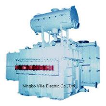 Трехфазный трансформатор электрической дуговой печи