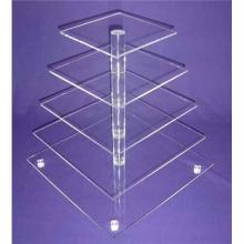 Perspex Pop Acrylic Product, Publicidade Display Shelf for Cakes