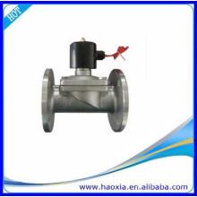 Válvula solenóide de água de aço inoxidável com flange de duas vias com vedação normal