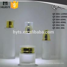 40ml 60ml 100ml 120ml bouteille de lotion de verre dépoli