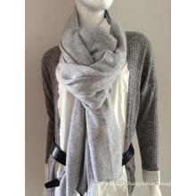 Damenmode grauer Kaschmir gestrickter Schal (YKY4387-2)