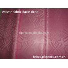 Розовый цвет Гвинея brocade Западной Африки одежды ткани дамасской shadda базен riche полиэфирные текстильные складе новая мода продажа