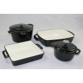 Set Porcelain Enamel Interior Finish Cookware Set