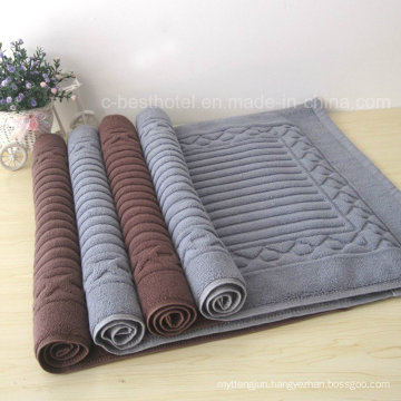 Factory Supply 100 % Cotton Jacquard Hotel Floor Towel