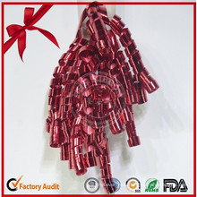 Top Grade Decorative Curling Bow for Christmas Festival Ribbon