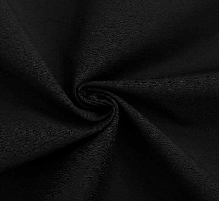 Polyester Cotton Black Fabric