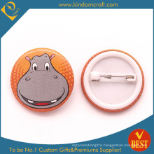 Hippo′s Big Smile Face Tin Button Badge for Gift or Souvenir
