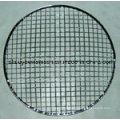 Удобный круглый барбекю Гриль проволочной сетки с деревянной ручкой
