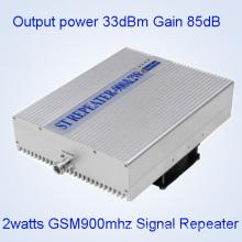 5watts GSM900MHz Répéteur de signal mobile, 33dBm GSM900MHz Amplificateur de signal de téléphone cellulaire, GSM / Dcs / WCDMA Répéteur de bande large bande triple / 2g Amplificateur de signal 3G