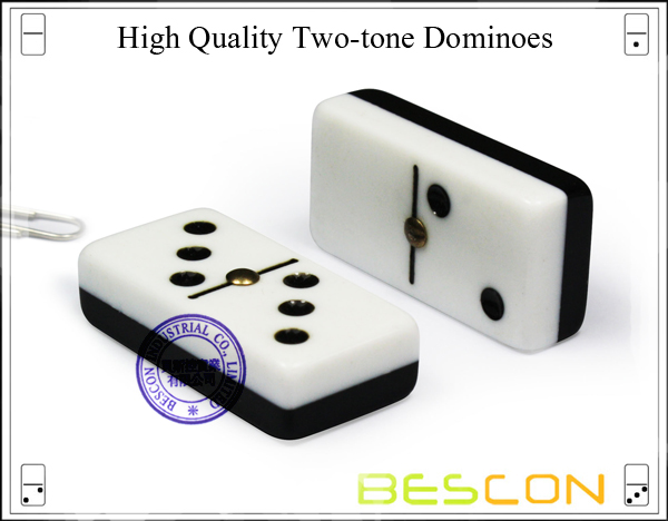 High Quality Two-tone Dominoes
