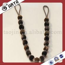 Corde à cravate en rideau de haute qualité, poteaux de rideaux, cordons pour rideau