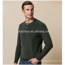 2017 new classic O neck men 100% puer cashmere sweater