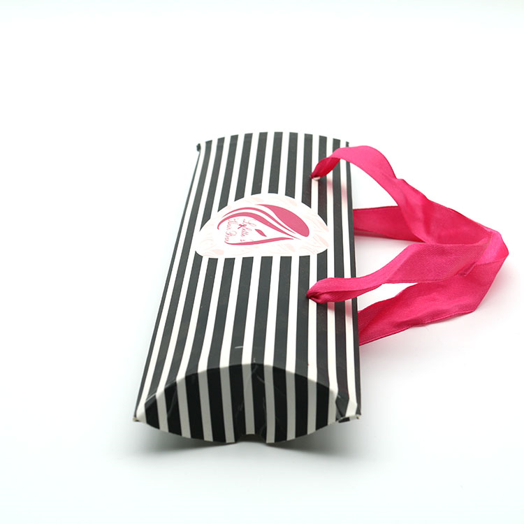 Paper Pillow Box Packaging For Hair Wig Box
