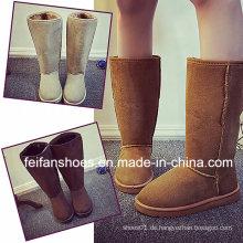 Neue Ankunfts-Mädchen-beiläufige Schnee-Stiefel mit hohem Rohr