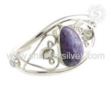 Лучшая цена мульти драгоценных камней серебряный браслет 925 серебряные ювелирные изделия ручной работы ювелирные изделия оптовик