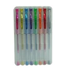 8 Pack Plastik Glitzer Gel Tintenstift (M201G) Schreibwaren Set