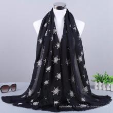Nouvelle arrivée mode motif plaid en gros coton et viscose 2017 femmes hijab écharpe