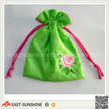 High Grade Embroidery Drawstring Jewelry Pouch (DH-MC0286)