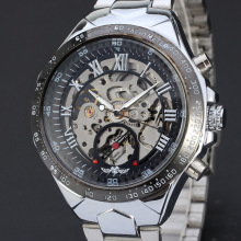 travel watch for men rotating dial with skeleton dial design watch