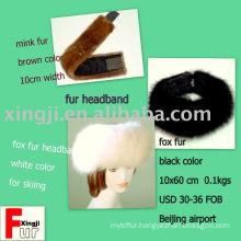 leather product- fur headband