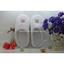 cheap soft colar fleece personalized custom made embroidered hotel slipper