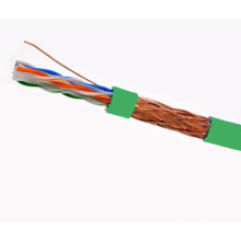 SFTP CAT6 LSZH Cable Fluke Testé Soild Bare Copper Green