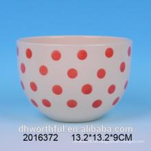 Alle Arten von Größe Rot & Weiß Keramik Schüssel