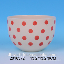 All Sorts of Size Red & White Ceramic Bowl