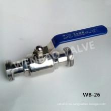 """SUS304 Válvula de bola limpia de 11/4 """"para agua"""