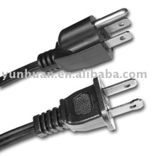 Electric cord Ac UL CSA recognized power cable wire type sjow sjoow 12*3 14*3 AWG 16*3 18*3 cordage USA style